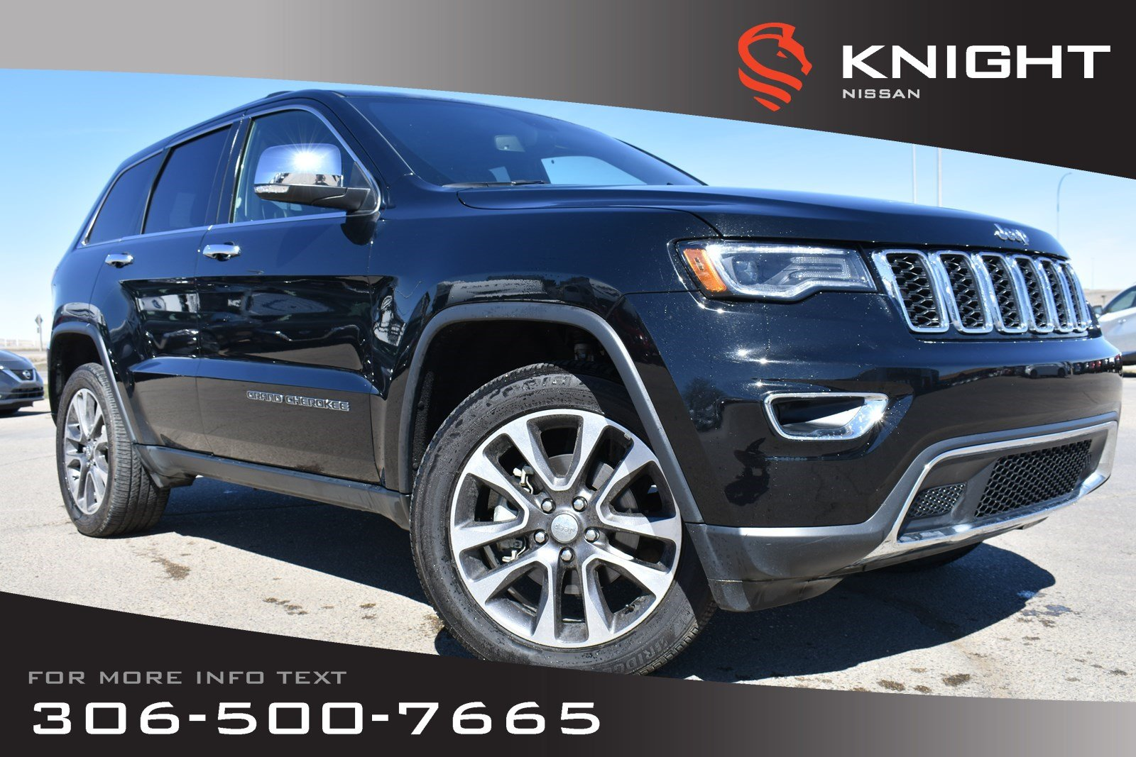 Pre-Owned 2018 Jeep Grand Cherokee Limited Leather | Low KMs | Heated & Cooled Seats | Navigation |