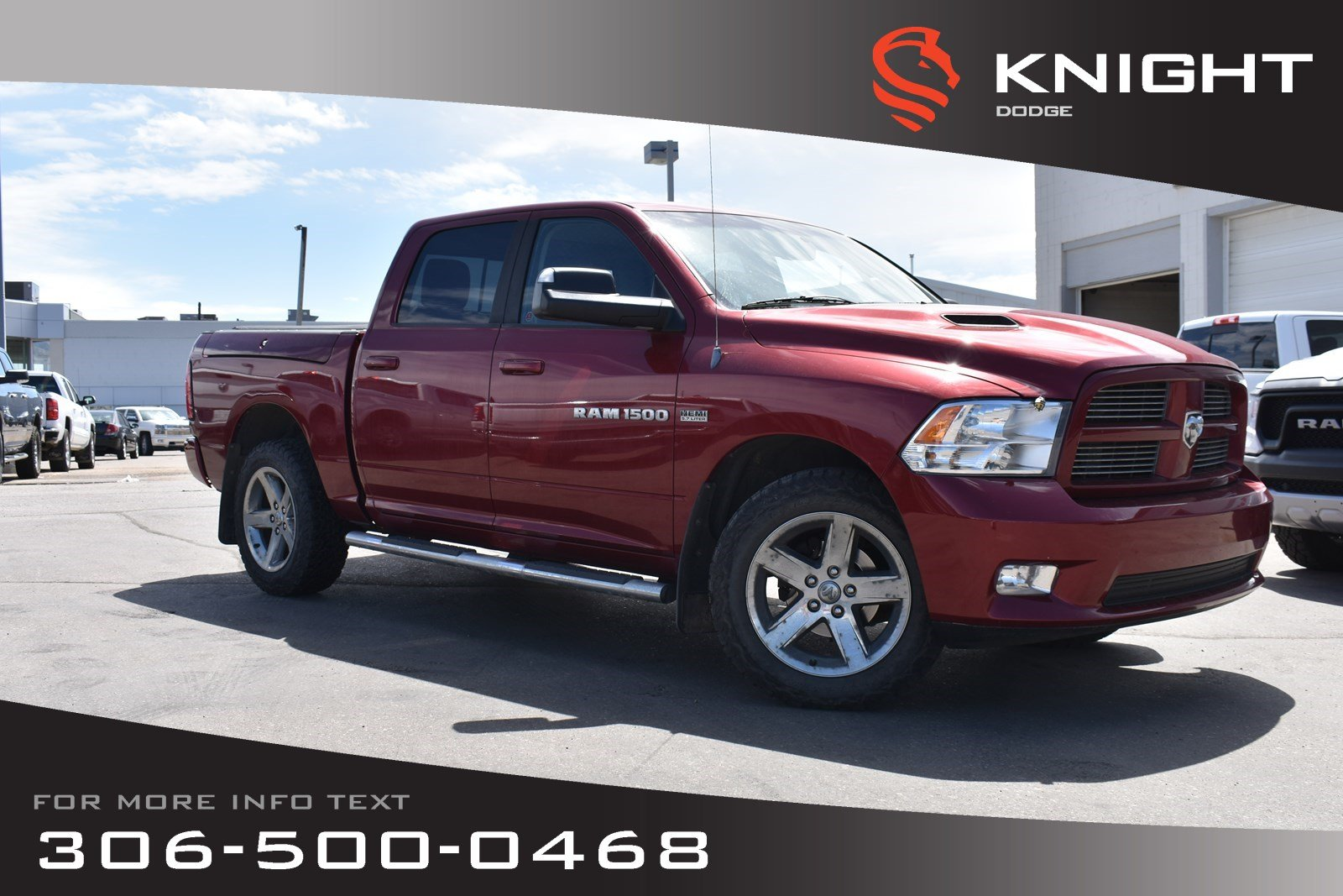 Pre-Owned 2012 Ram 1500 Sport | Sunroof | Power Seats | Heated/Cooled Leather Seats |