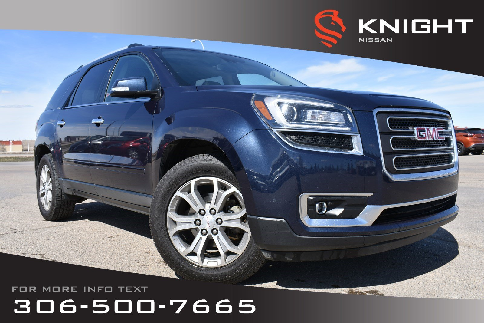 Pre-Owned 2015 GMC Acadia SLT Leather | Remote Start | Navigation | Bluetooth |