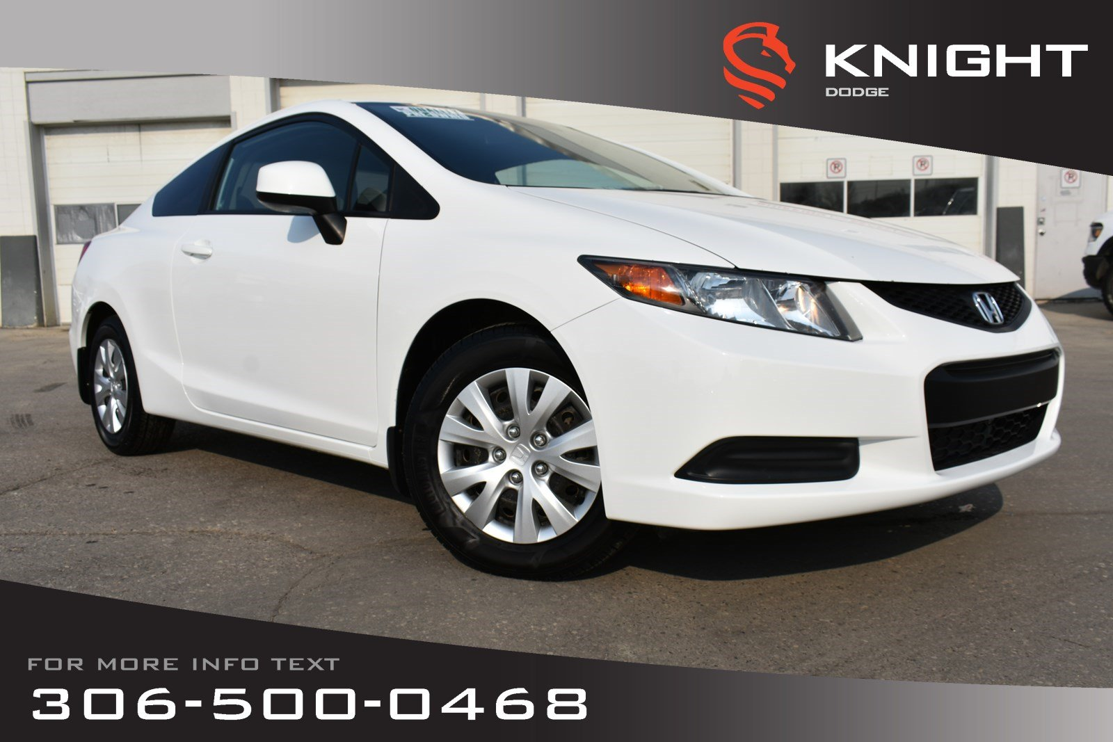 Pre-Owned 2012 Honda Civic Cpe LX | Power Windows | Keyless Entry |