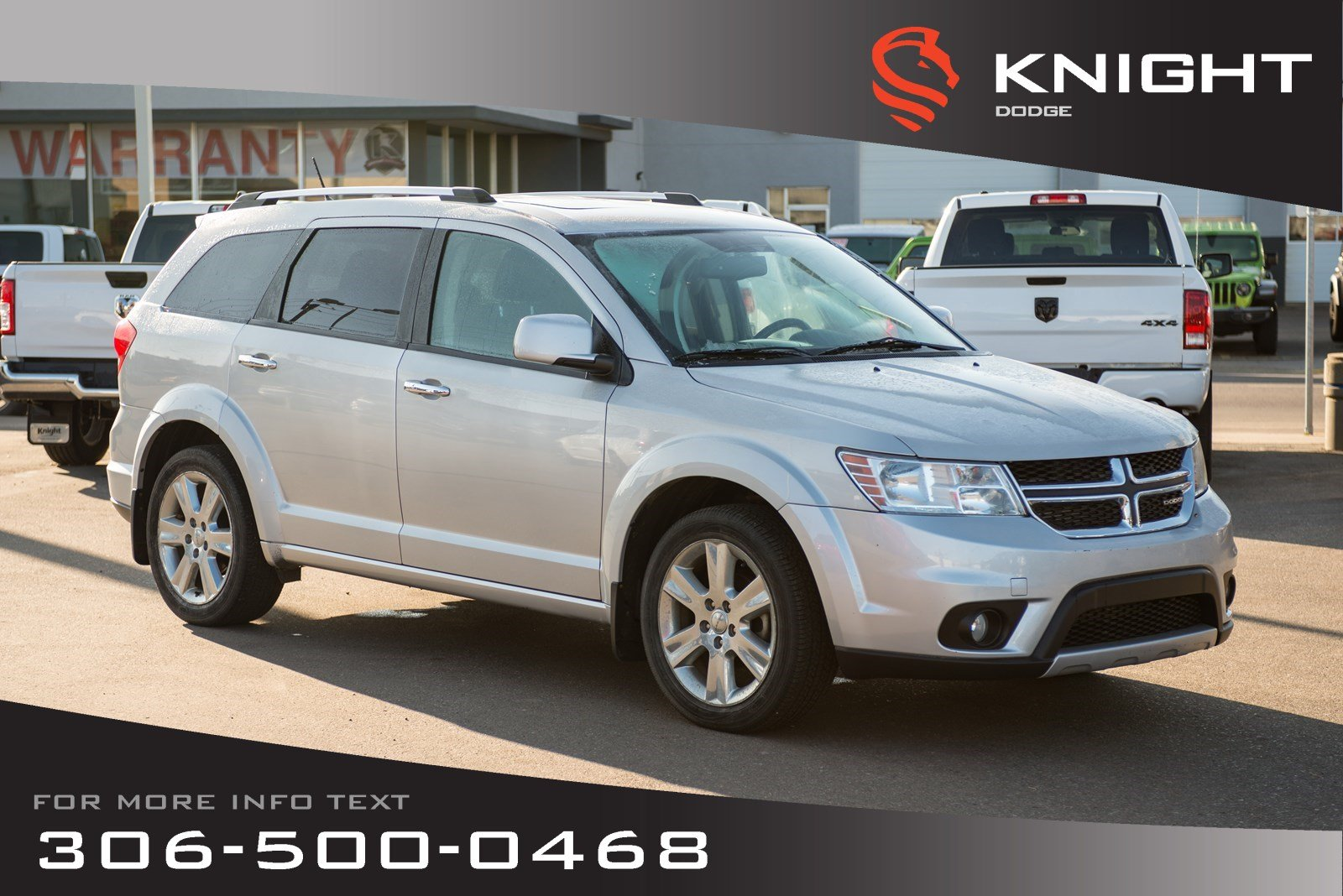 Knight Dodge Swift Current >> Used 2011 Dodge Journey R T Leather Heated Seats Remote Start Station Wagon