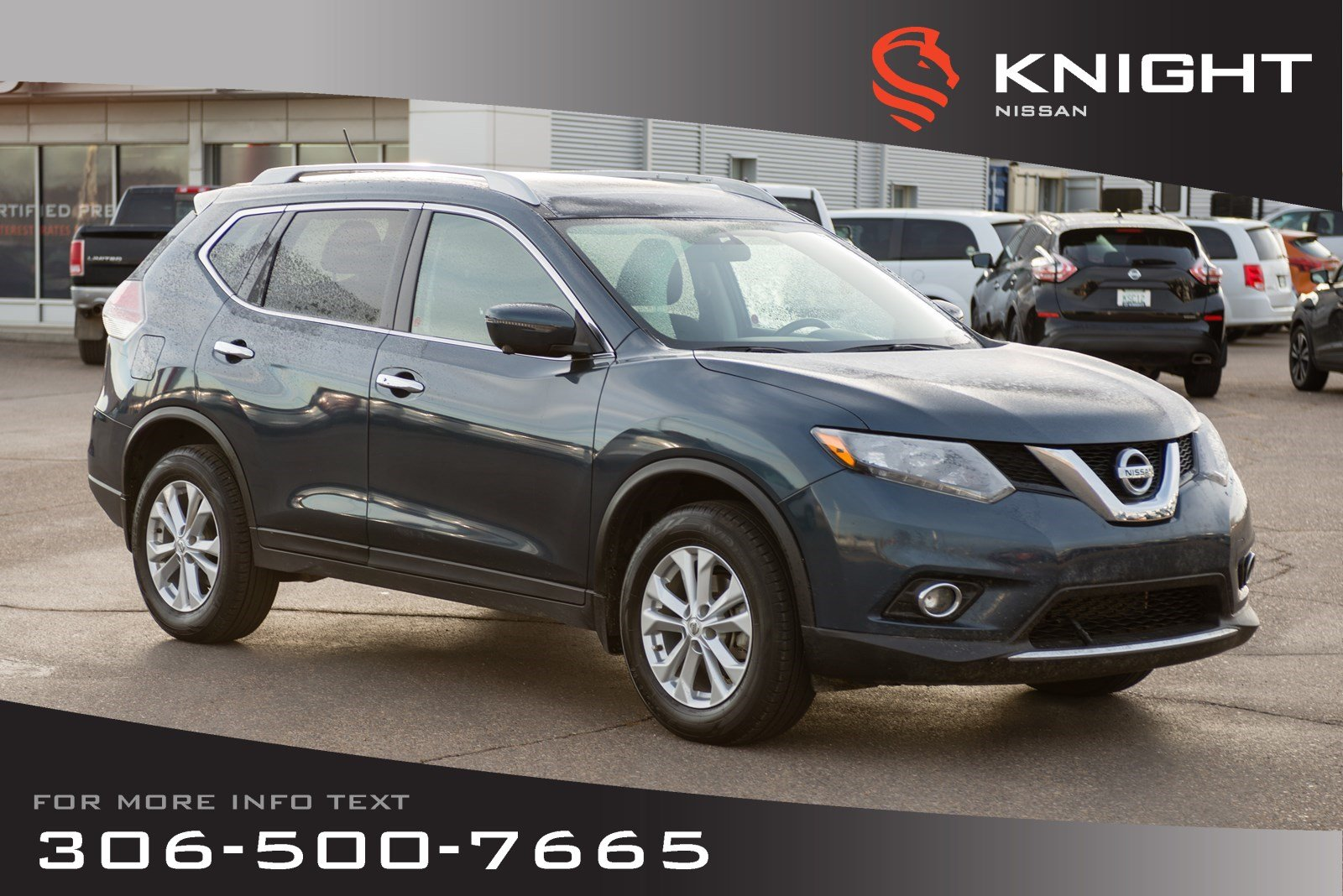 Nissan Rogue Seating >> Used 2016 Nissan Rogue Sv Technology Package Heated Seats Navigation Low Kms Sport Utility