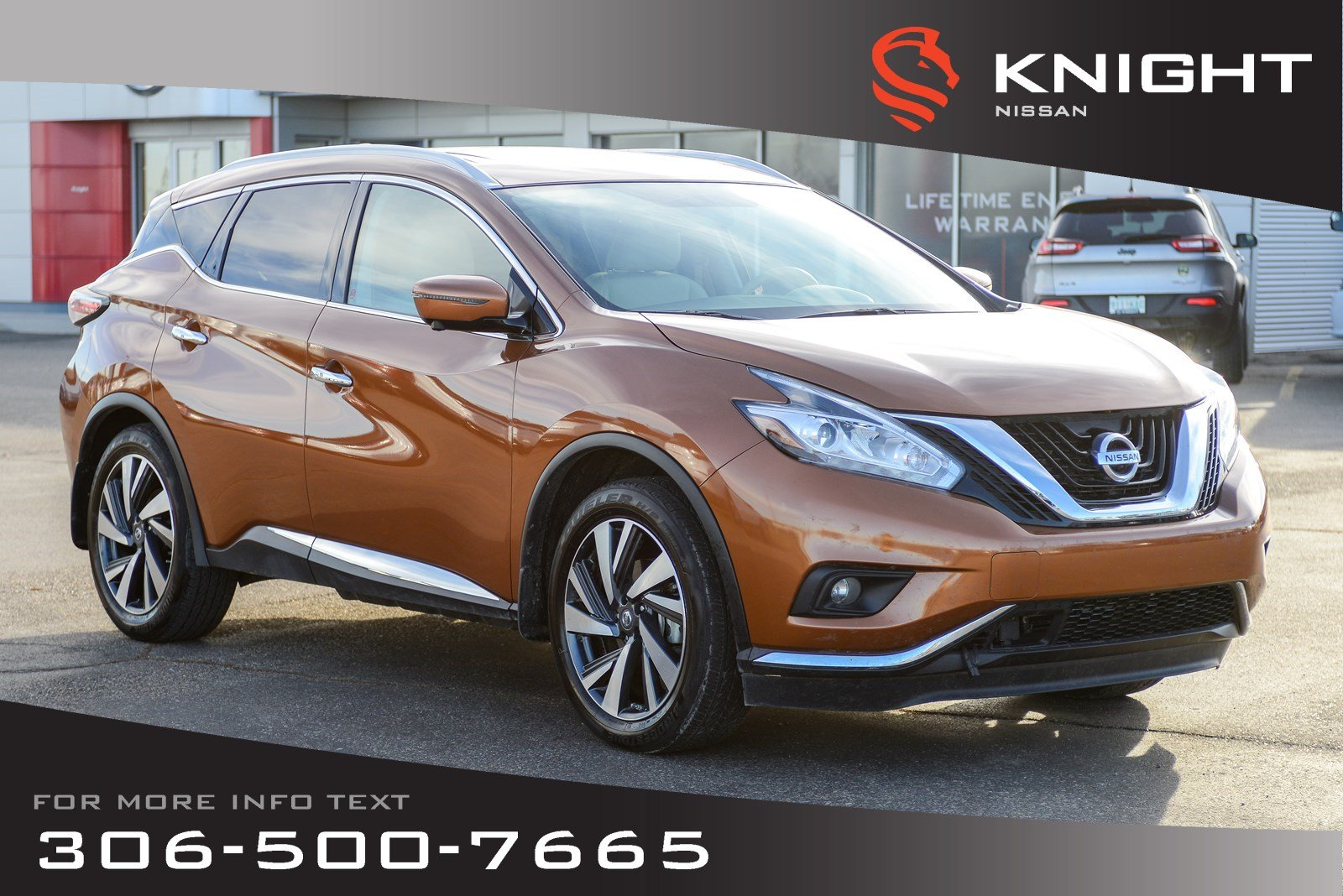 Pre-Owned 2018 Nissan Murano Platinum | Leather | Heated & Cooled Seats | Low KMs |