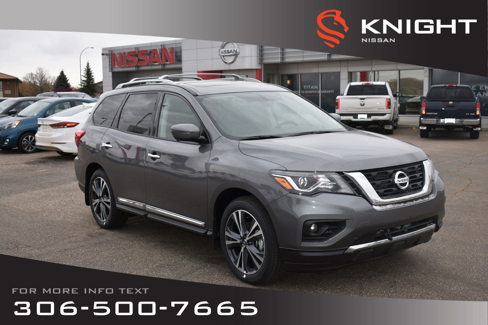 New 2019 Nissan Pathfinder Platinum | Leather | Heated & Cooled Seats | Navigation | DVD Pkg | Bose System |