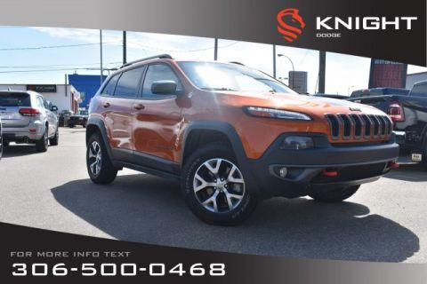 Pre-Owned 2015 Jeep Cherokee Trailhawk | Leather | Heated Seats & Steering Wheel | Bluetooth |