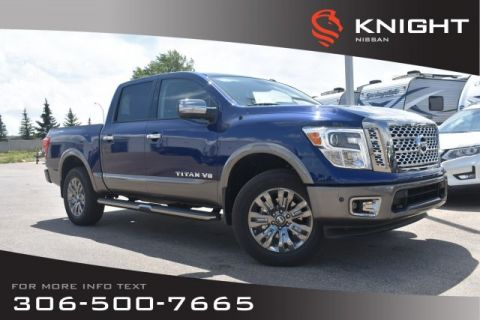 New 2019 Nissan Titan Platinum Reserve | Crew Cab | Leather | Heated Seats | Remote Start | DVD Pkg |
