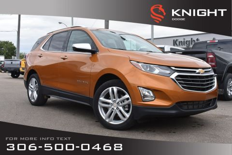 Pre-Owned 2018 Chevrolet Equinox Premier | Leather | Heated & Cooled Seats | Low KMs |