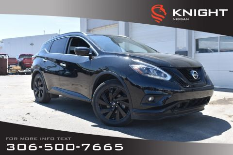 Pre-Owned 2018 Nissan Murano Midnight Edition | Leather | Navigation | Heated & Cooled Seats | Black Exterior Accents |