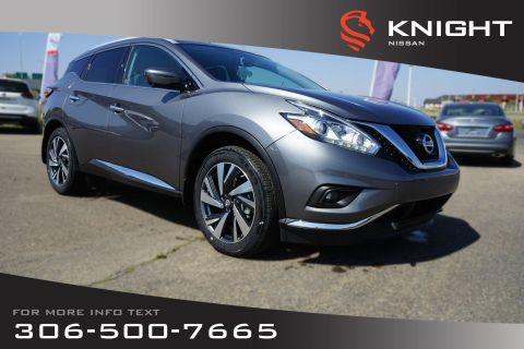 New 2018 Nissan Murano Platinum Leather | Heated & Cooled Seats | Navigation | Remote Start | Bose System |
